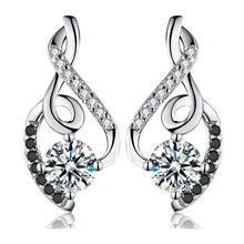Классические женские сережки из 2,2 натурального 925 пробы серебра г, хорошее ювелирное изделие, винтажные свадебные серьги-гвоздики для женщин T006