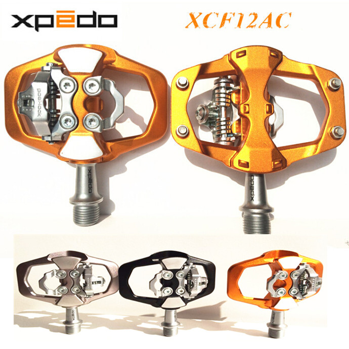 Xpedo XCF12AC Mountain Bike Pedal MTB Auto Lock Bicycle Pedals 3 Bearing High Strength