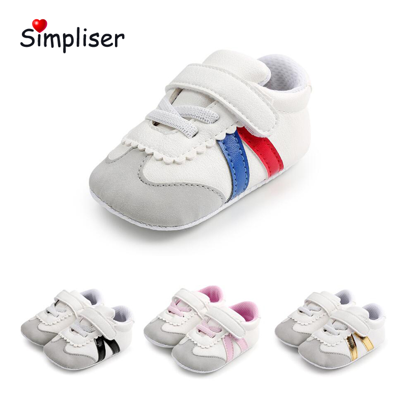 Newborn Baby Girls Boys Sneakers Soft Sole Anti-slip Casual Shoes Infant Toddler Shoes 0-18 Moth Baby First Walkers Walking Shoe