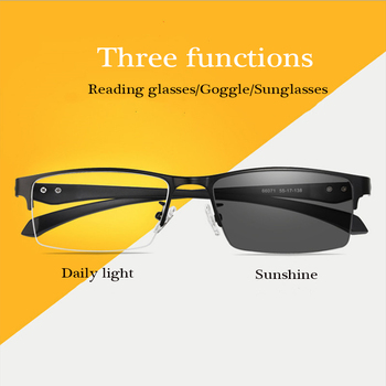 Progresywne wieloogniskowe okulary do czytania z fotochromem mężczyźni smart zoom TR90 okulary do czytania kobiety anty-niebieskie okulary do czytania tanie i dobre opinie SCOBER WOMEN Unisex WHITE Fotochromowe RG0087 3 0cm Polistyrenu 5 4cm Plastikowe tytanu