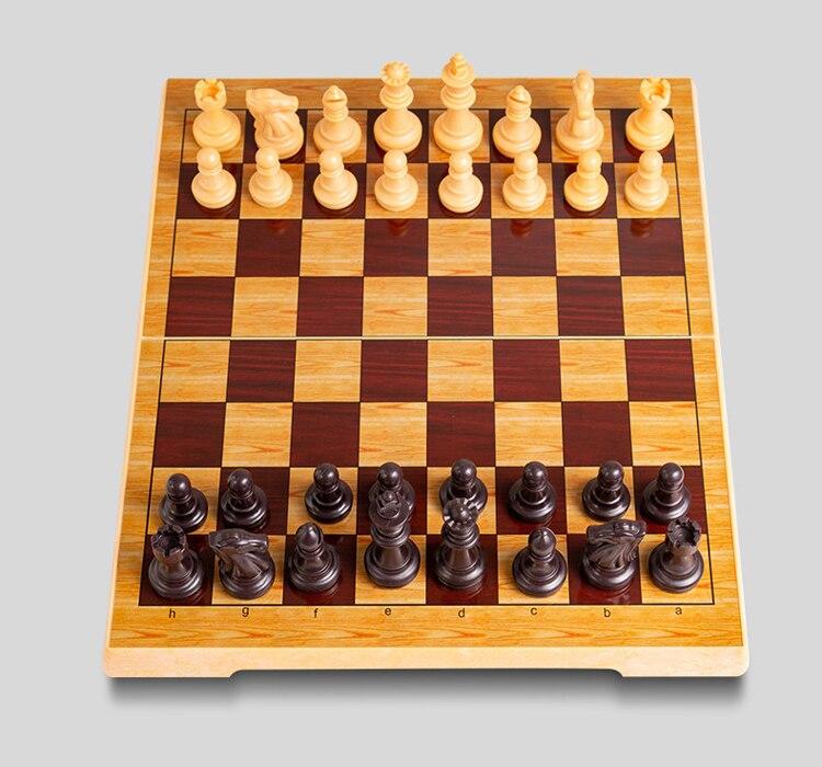 Qualidade superior conjunto de xadrez plástico magnético