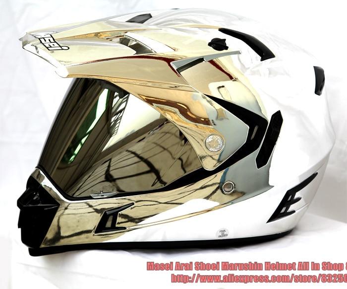 Motorcycle Helmets Dot >> Cool Helmet Designs Masei Helmet 311 Plating Silver Motocross Helmet Double Lens Motorcycle ...
