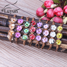 Luyun daffodil hand-woven rope crystal glass bracelet DIY jewelry manufacturers custom Wholesale