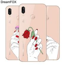 DREAMFOX M198 Cute Art Finger Soft TPU Silicone Case Cover For Huawei Honor 6A 6C 6X 7A 7C 7S 7X 8 Lite Pro