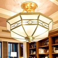 Модные медь потолочный светильник балкон верхнего света освещение qd02