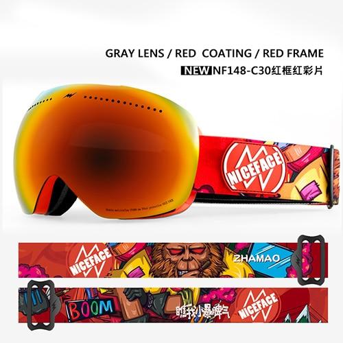 New Hot Ski Goggles Masks Men Women Skiing Eyewear Uv400 Anti-fog Snowmobile Snowboard Goggles Skating Glasses Send Glasses Case Skiing & Snowboarding Sports & Entertainment