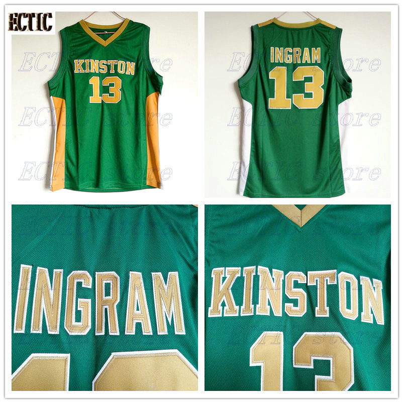 check out 373f8 4b83e 2018 Mens ECTIC Brandon Ingram Jerseys Throwback Basketball Jerseys #13  High School High School Vikings Green Retro For Mens-in Basketball Jerseys  ...