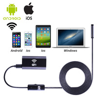 New 1m 2m 3 5m 5m Cable IOS Android Wifi Endoscope With 8mm Lens 6 LED