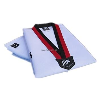 Uniforme de Taekwondo para niño y adulto traje de Karate de alta calidad, tamaño cómodo, WTF Mooto Tae kwon do Doboks