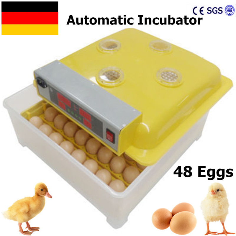 48 Eggs Incubator Chicken Duck  Poultry mini home use   Incubator Poultry Eggs Poultry Incubation Equipment hatching chicken duck egg incubator 48 eggs incubator automatic incubator poultry incubation equipment