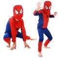 Moda Red Spiderman Costume Negro Batman Superman Disfraces de Halloween Para Niños capas de Superhéroes Cosplay Anime Disfraces de Carnaval