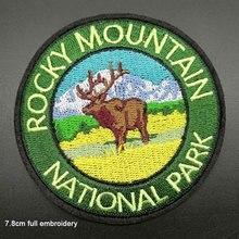 Полная вышивка национальный парк Олень Медведь Железный на вышитые одежды патчи для одежды наклейки одежды