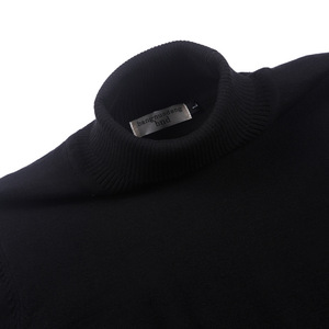 Image 4 - 100% cotton sweater mens 2018 winter turtleneck Long sleeve sweater Thicken Solid color sweater cotton slim bottoming shirt 866