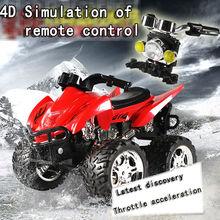 2016 4D RC Controle Remoto Motocicleta Carros de Brinquedo Eletrônico Recarregável Deriva Dumpers caminhões de acionamento do eixo 4WD