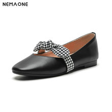 NEMAONE genuine Leather women Shoes Woman flats Loafers Lady shoe Female Casual Driving Walking shoes large size 43
