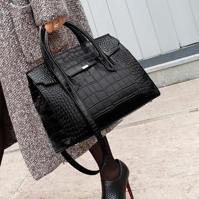 Diseñador Drands, bolso de cocodrilo para mujer, bolso de mano para mujer, bolso grande de hombro, bolsos de marca de lujo Bolso de mano femenino de marca, de lujo bolso de hombro, bolso compuesto de cocodrilo Cuero simple, bolso de mano de gran capacidad, bolso de compras B44-22