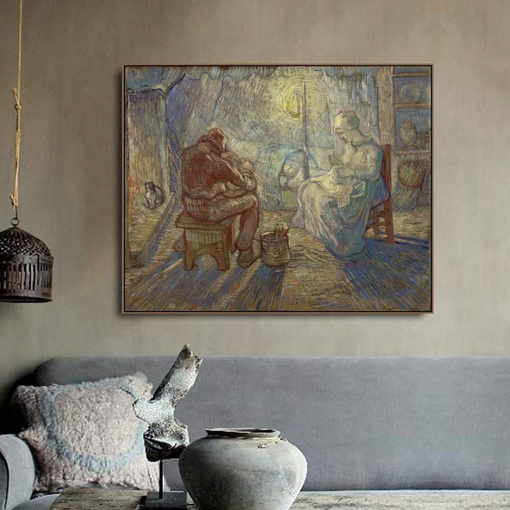 Sentinel in the Evening by Vincent Van Gogh Canvas Painting Calligraphy Poster Prints Home Decor Wall Pictures For Living Room