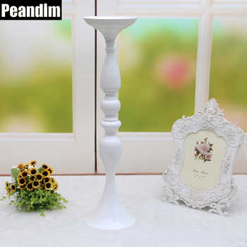PEANDIM 10PCS/LOT White Metal Candle Holder Candle Stand Romantic Ideas for Wedding Centerpiece Road Lead Flower Vase Holder - DISCOUNT ITEM  34% OFF All Category