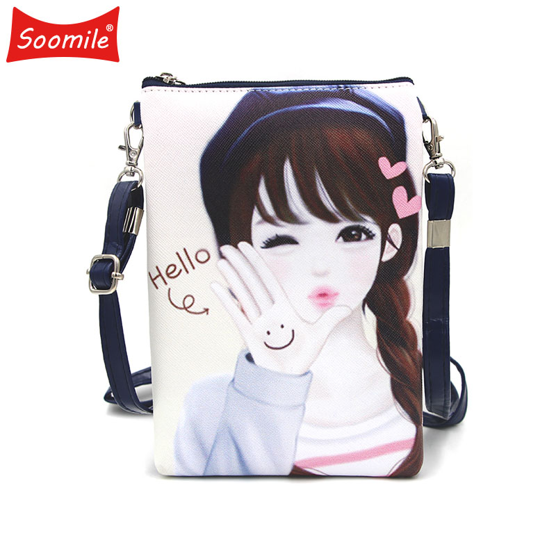 Soomile 2018 New Cute Girl Cartoon Mini Shoulder Bags Young Crossbody Bag For Children Kids