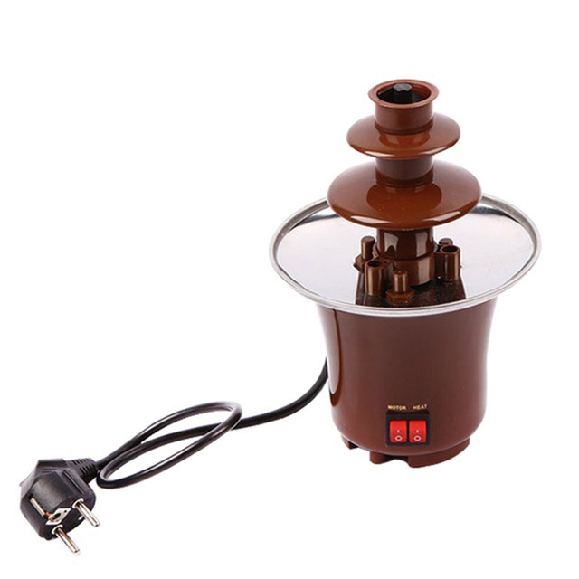 Chocolate Fountain Creative Design Chocolate Melt With Heating Fondue Waterfall Machine Home Event Wedding Party Supplies image