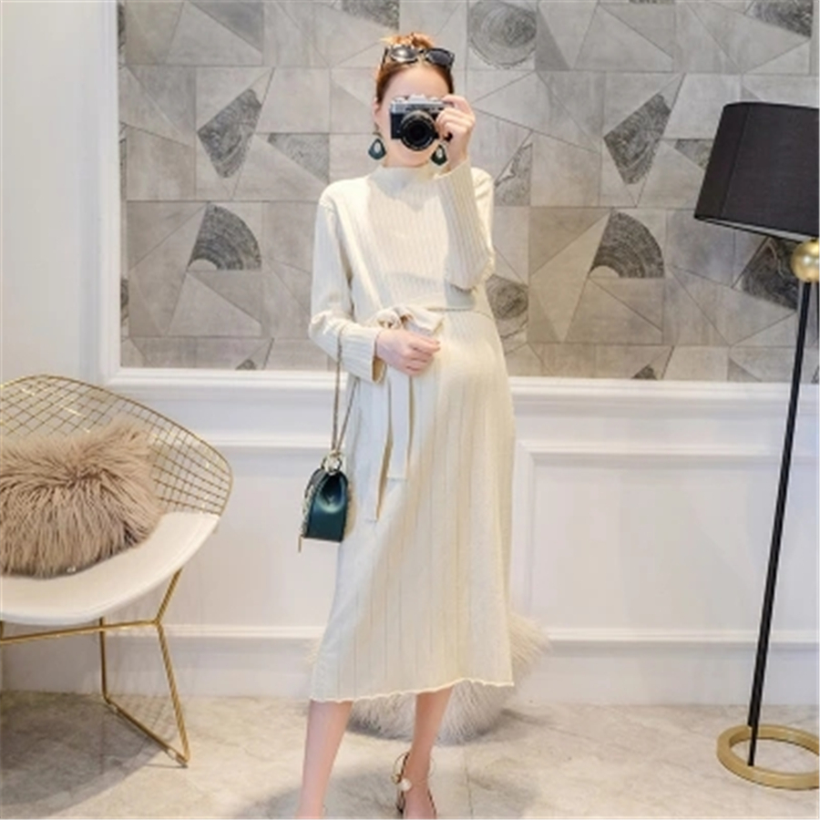 Maternity Dress Elegant Cotton Maternity Dress Knitted Autumn Winter Fashion Clothes Pregnant Women Pregnancy Clothing 70R0178 maternity clothes pregnancy dress clothes for pregnant women dresses autumn casual design cotton elegant women clothing 70r0004