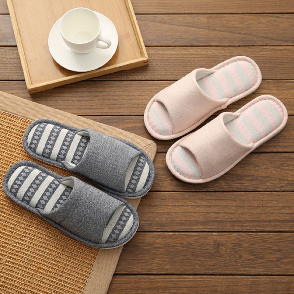 Woman Man New PVC+Cotton Slippers Indoor Chaussures Non-slip Shoes Femme Mules Fur Slippers Household Shoes Winter Autumn jooyoo 4