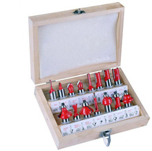 """15pcs multifunctional milling cutter set 1/4 """"trimming machine woodworking milling cutter"""