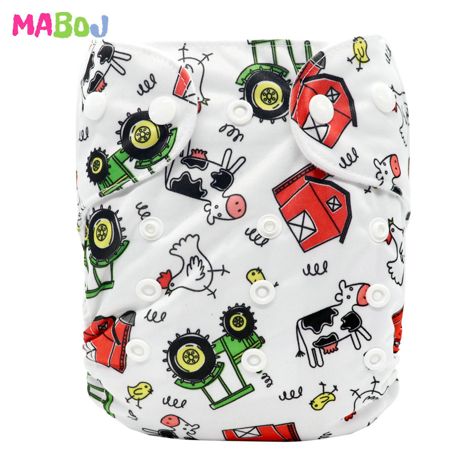MABOJ Diaper Baby Pocket Diaper Washable Cloth Diapers Reusable Nappies Cover Newborn Waterproof Girl Boy Bebe Nappy Wholesale - Цвет: PD5-5-6