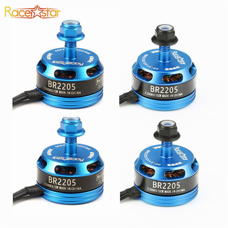 New 4 Pcs Racerstar Racing Edition 2205 BR2205 Blue 2300KV 2-4S Brushless Motor Light Blue For 210 X220 250 280 RC Multirotor touchstone teacher s edition 4 with audio cd