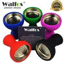 Walfos New Unbreakable flower Silicon Shisha Hookah Bowl Silicon Head for shisha Charcoal Hose moth tips Hookah bowl accessories