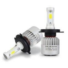 Safego 2 uds H7 H8 H9 H11 9005 HB3 9006 HB4 COB LED bombillas de faro delantero de coche Hi Lo haz de luz de niebla de la lámpara 8000LM 6500K 12v 24v