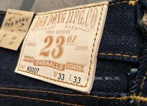 Image 4 - بنطلون جينز للرجال بوب دونغ 23 أونصة بلون أحمر من قماش الدنيم بقصة ضيقة