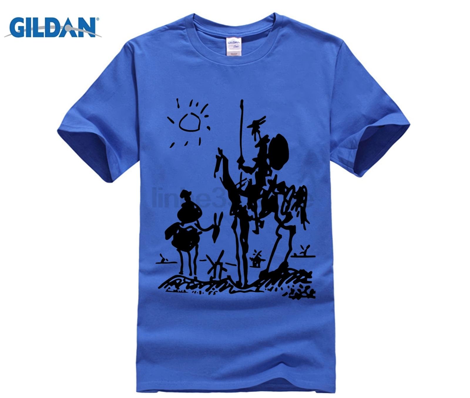 Traditional Picasso Art Painting Men Short Sleeve T Shirt Cotton Tee Tshirt Ny Donquixote Knight Women From Clothing Picasso Art Painting Men Short Sleeve T Shirt Cotton Tee Tshirt