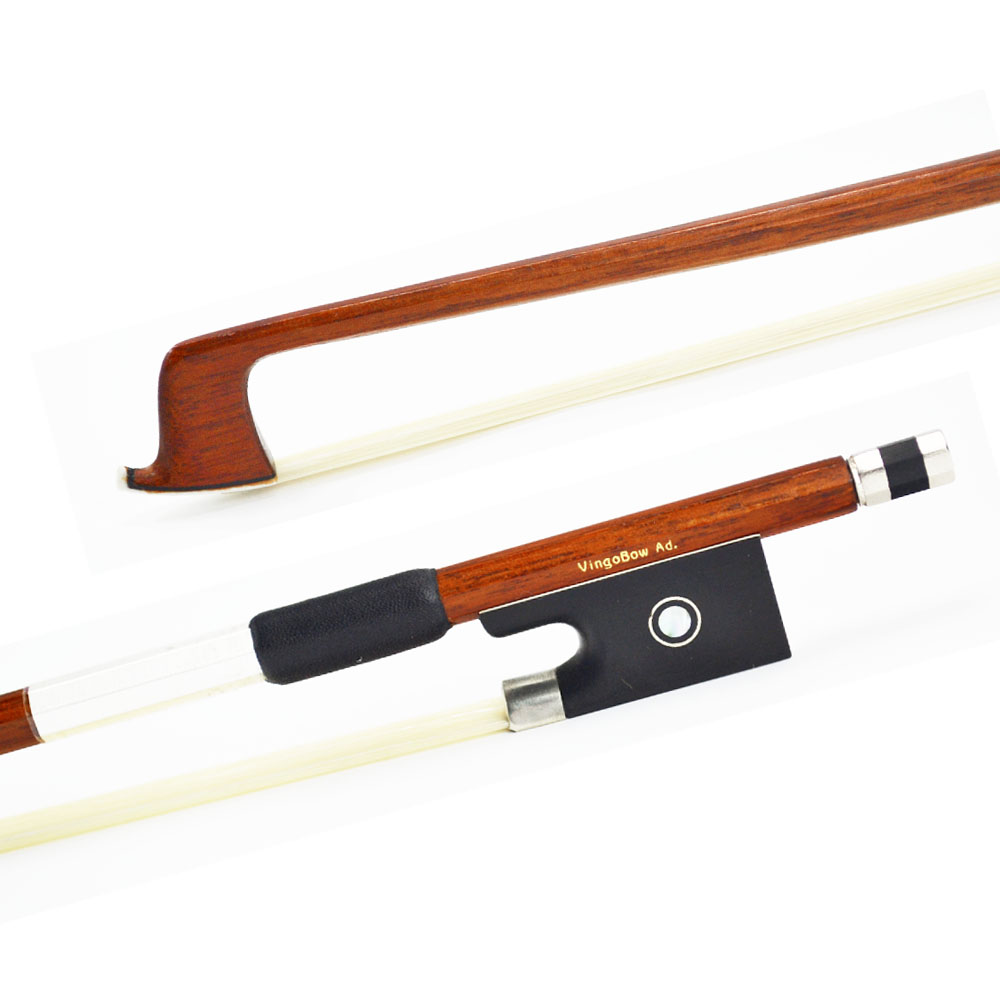 310V 1 4 Size Octagonal VIOLIN BOW Brazilwood Stick Ebony Frog Nickel Silver Mounted Natural Horsehair