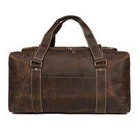 Для мужчин Crazy Horse, кожаная сумка для путешествий, женские кожаные туфли лодочки на уик Энда, натуральная кожа, сумка для вещей Сумка Zip Вокруг