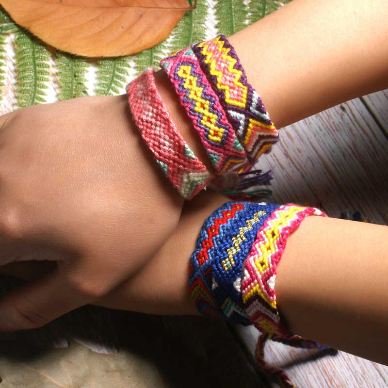 ירח ילדה בעבודת יד Boho Weave גלישת צמיד ידידות אופנה טרנדי יוגה ז 'נבה שיק ילדה חג Pulseras Femme Dropshipping
