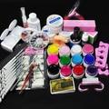New 12 Pure Color Nail Art UV Gel Solid Extension Form Manicure set nail kits sets nail art tools uv gel set