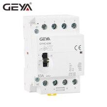 Free Shipping GEYA GYHC 4P 40A 63A 4NO 220V/230V 50/60HZ Din Rail Household AC Modular Contactor Manually Operation стоимость