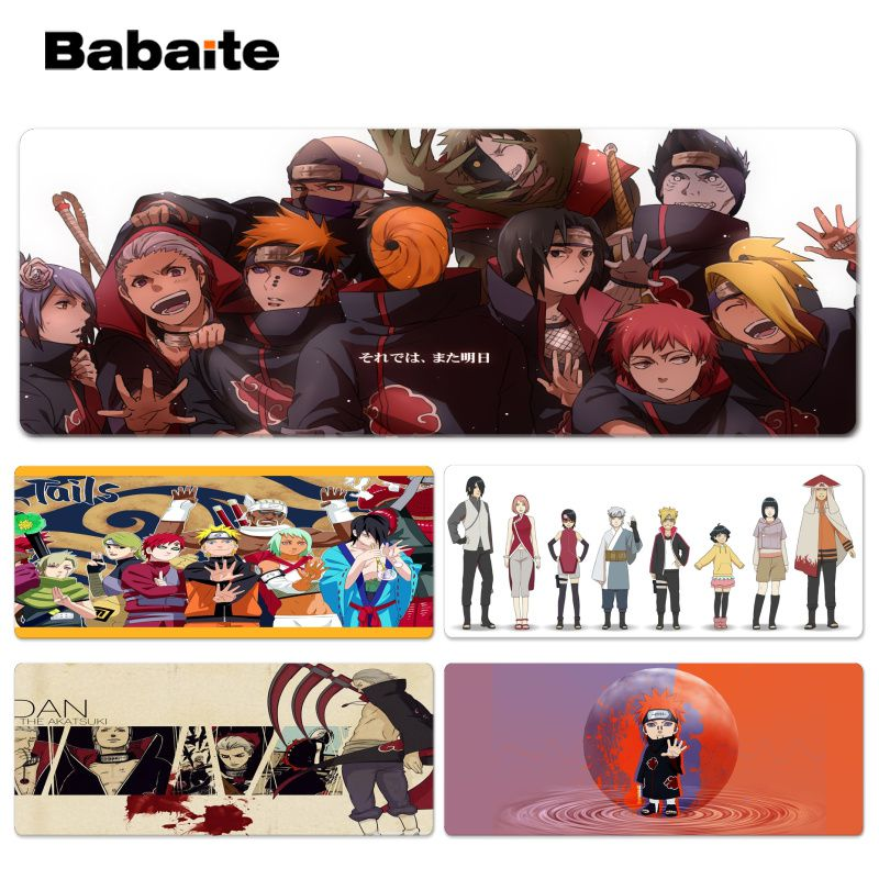 Babaite NARUTO Laptop Gaming Lockedge Mice Mousepad Size for 40x90CM Computer Mouse Mat