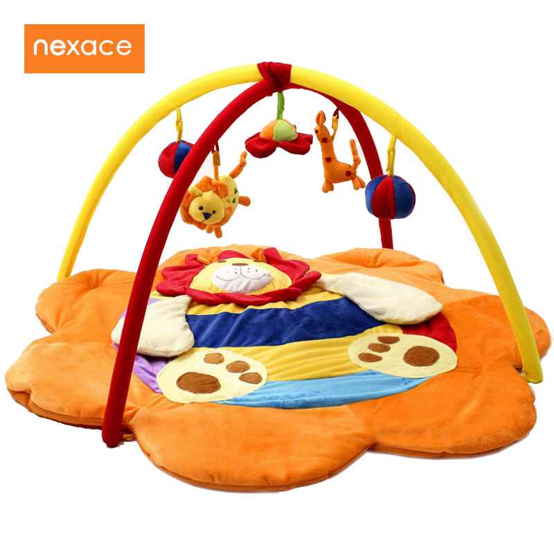 educational fitness crawling play mat cartoon lion thickening music gym mats Developing rug for children baby developing rug fitness shelf tapete infantil puzzle mat gym play mats toys for kids