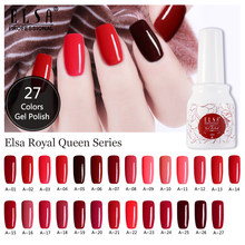 ELSA żel do paznokci lakier do paznokci Semi Permanant opies Soak Off Gelpolish Nail Art Design Manicure żel UV lakier do paznokci lakier(China)