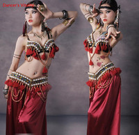 Natural shells belly dance costume tribal BRA hip scarf 2 piece ATS performance S M l free shipping