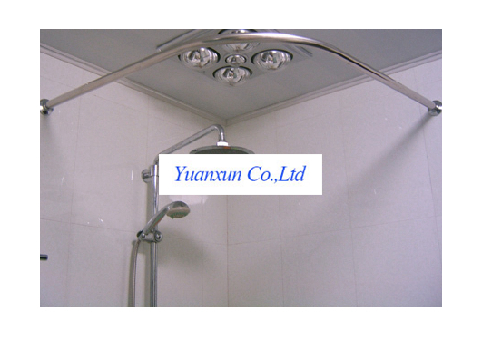 Toilet Bathroom Sets 304 stainless steel L shaped shower curtain rod ...