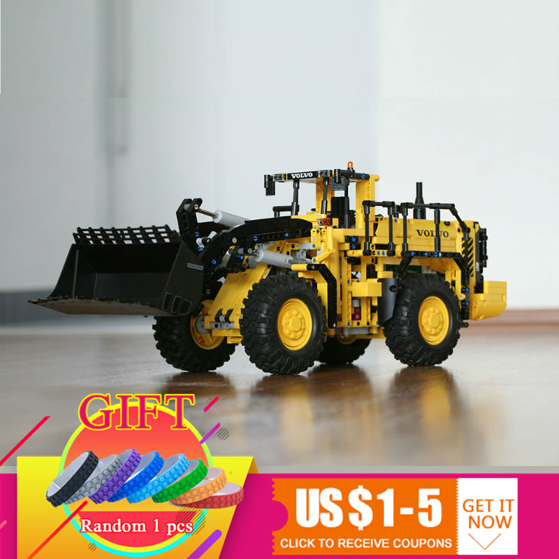 20006 1636pcs Technical series Volvo L350F wheel loader set Model Building blocks Compatible with 42030 boy gift toys lepin недорого
