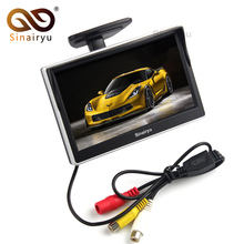 Sinairyu Car Parking Assistance 2IN1 5″ TFT LCD Rearview Monitor with 2 Video Input + Rear / Front CCD Backup Camera with Drill