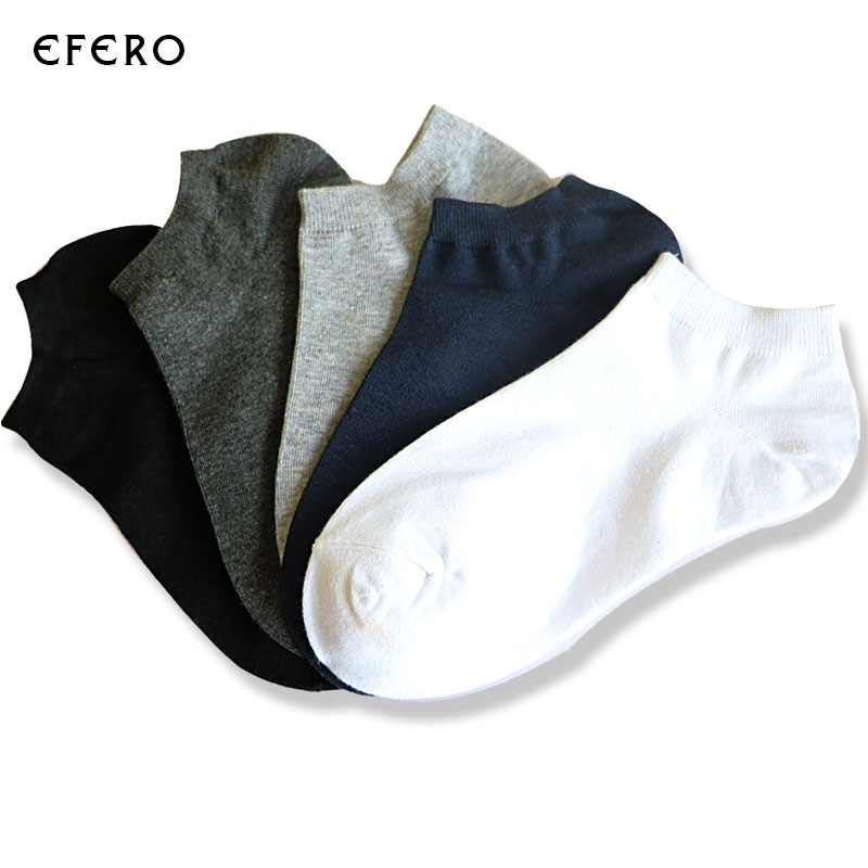 5Pair Mix Color Summer Men Socks Fashion Low Cut No Show Ankle Short Socks Male Slippers Shallow Mouth Boat Socks Calcetines