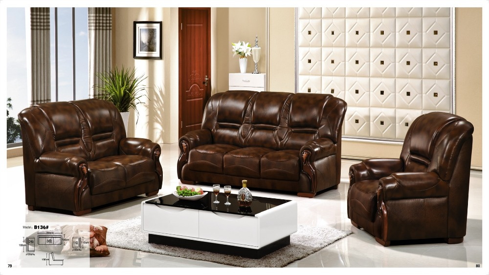 iexcellent modern design genuine leather sectional sofasofa set living room furniture leather sofa 123 sofa set