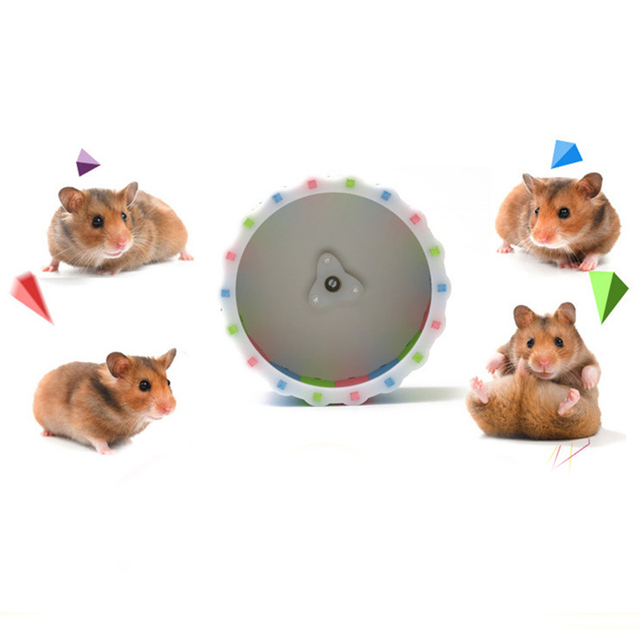 Small Pets Guinea Pig Hamster Wheel Silent roller Running Sports Round Wheel Hamster Cage Accessories Exercise Wheel for Pet Toy 2
