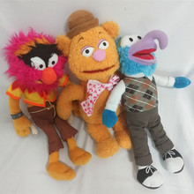 38CM big size The Muppet plush toy Kermit the Frog,Fozzie Bear,Animal,Gonzo stuffed toys  for kids toy dolls 38cm big cute muppets show kermit frog gonzo fozzie bear animal drummer soft stuffed plush toy doll children birthday gift