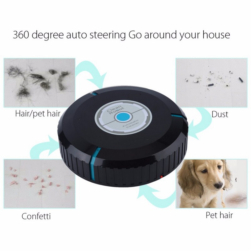 Home Auto Cleaner Robot Microfiber Smart Robotic Mop Floor Dust Sweeper Vacuum Cleaner Automatically  Household Cleaning Tool (13)